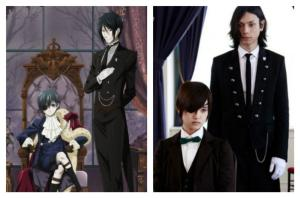 Black Butler live-action comparison